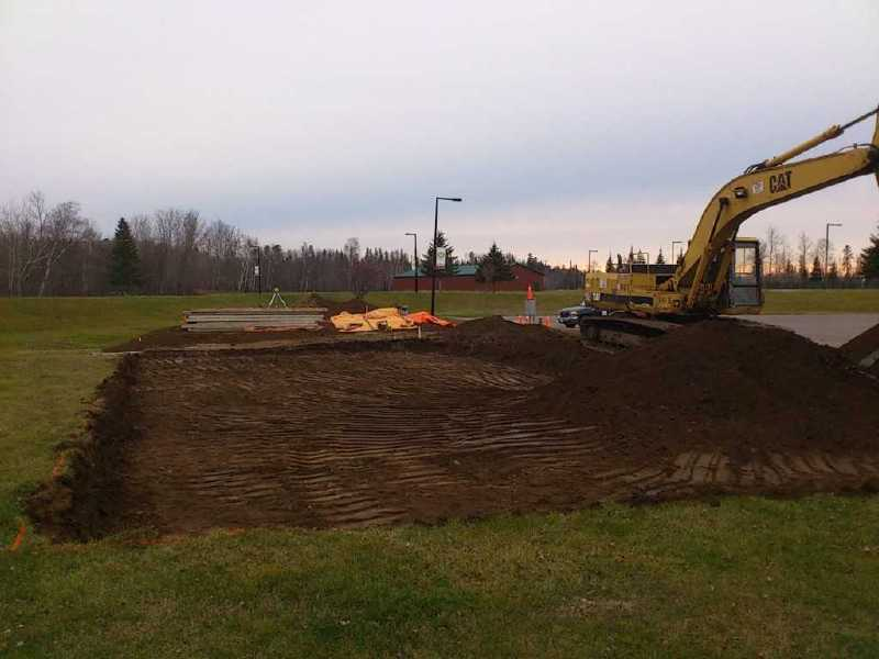 Foundation Preparation for the Classroom Building