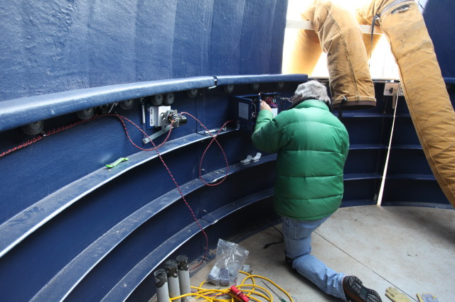 Installation of Digital Dome Works Panel (the Brains of the Dome)