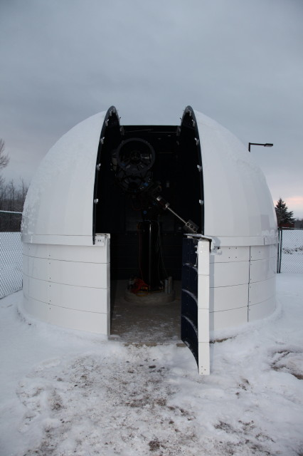 Dome and Scope With Door Open